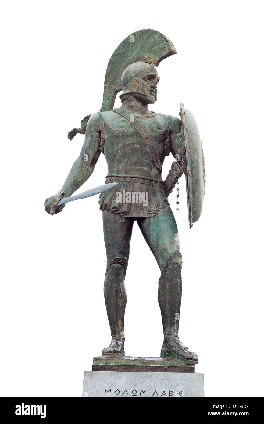 king leonidas of the 300 spartan soldiers statue found at sparta