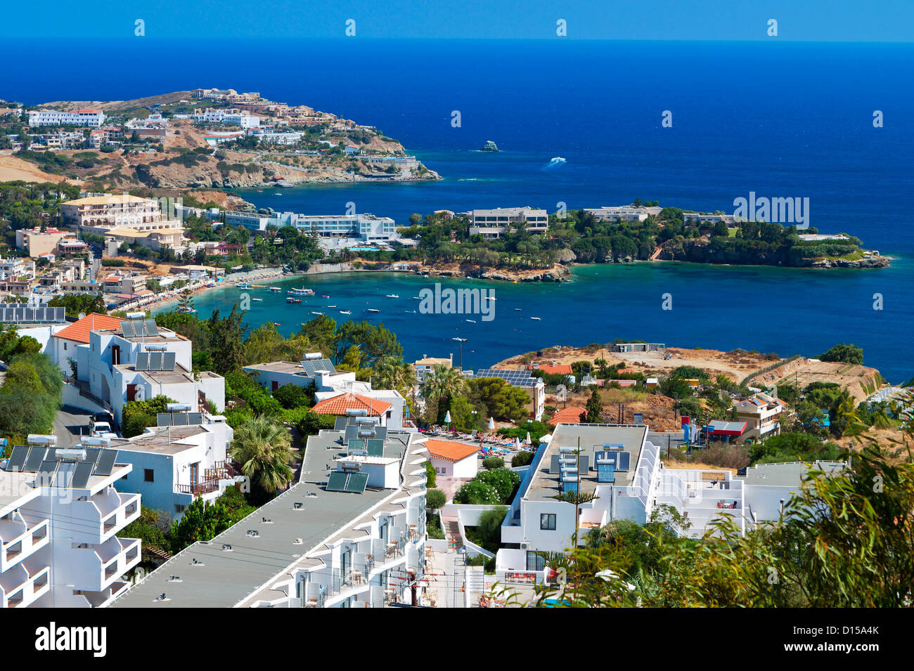 Aghia Pelagia bay at Crete island in Greece - Stock Image