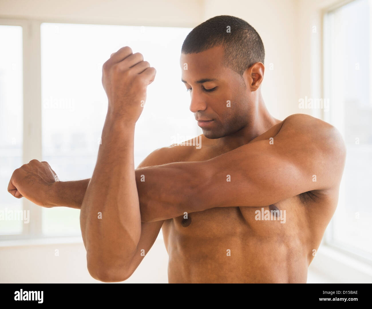 Man With No Shirt Stock Photos Man With No Shirt Stock Images Alamy