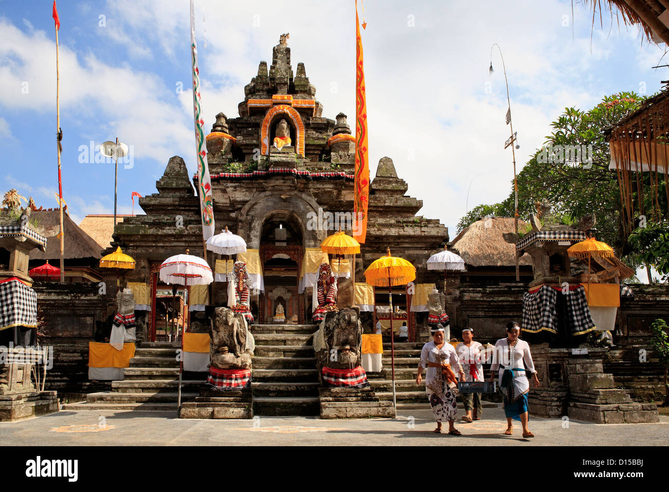 The main entrance to Pura Dalem Tengaling Temple at Pejeng. Near Ubud, Bali, Indonesia - Stock Image
