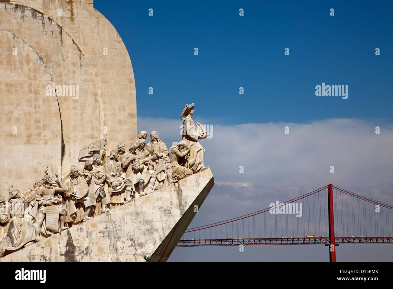 Discoveries Monument Lisbon Portugal - Stock Image