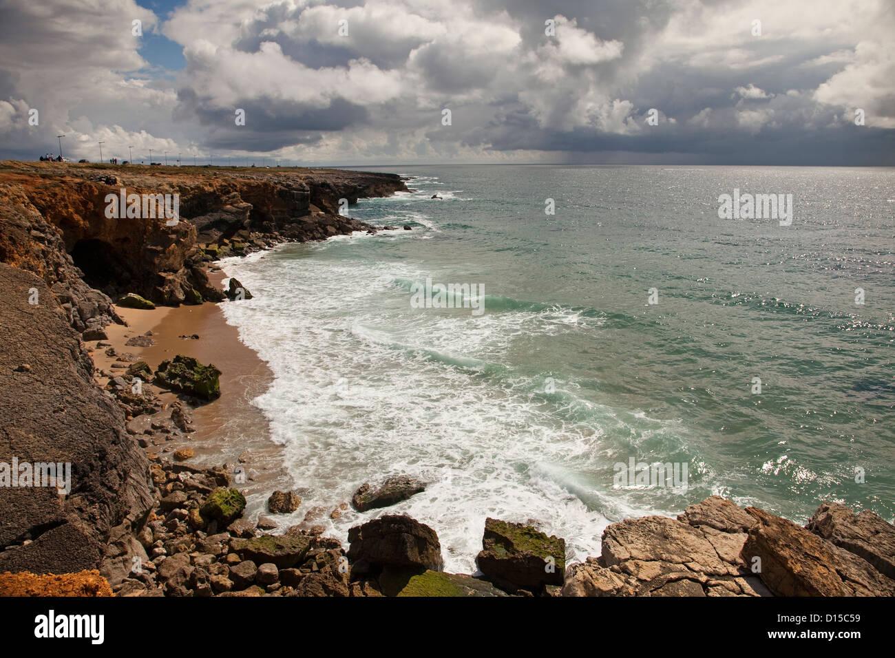 Beaches Guincho Cascais Portugal Stock Photo