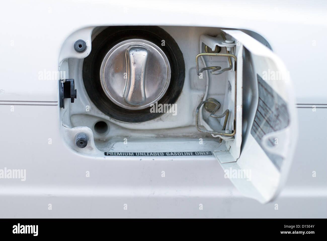 open fuel door on a car gas tank & open fuel door on a car gas tank Stock Photo: 52366635 - Alamy