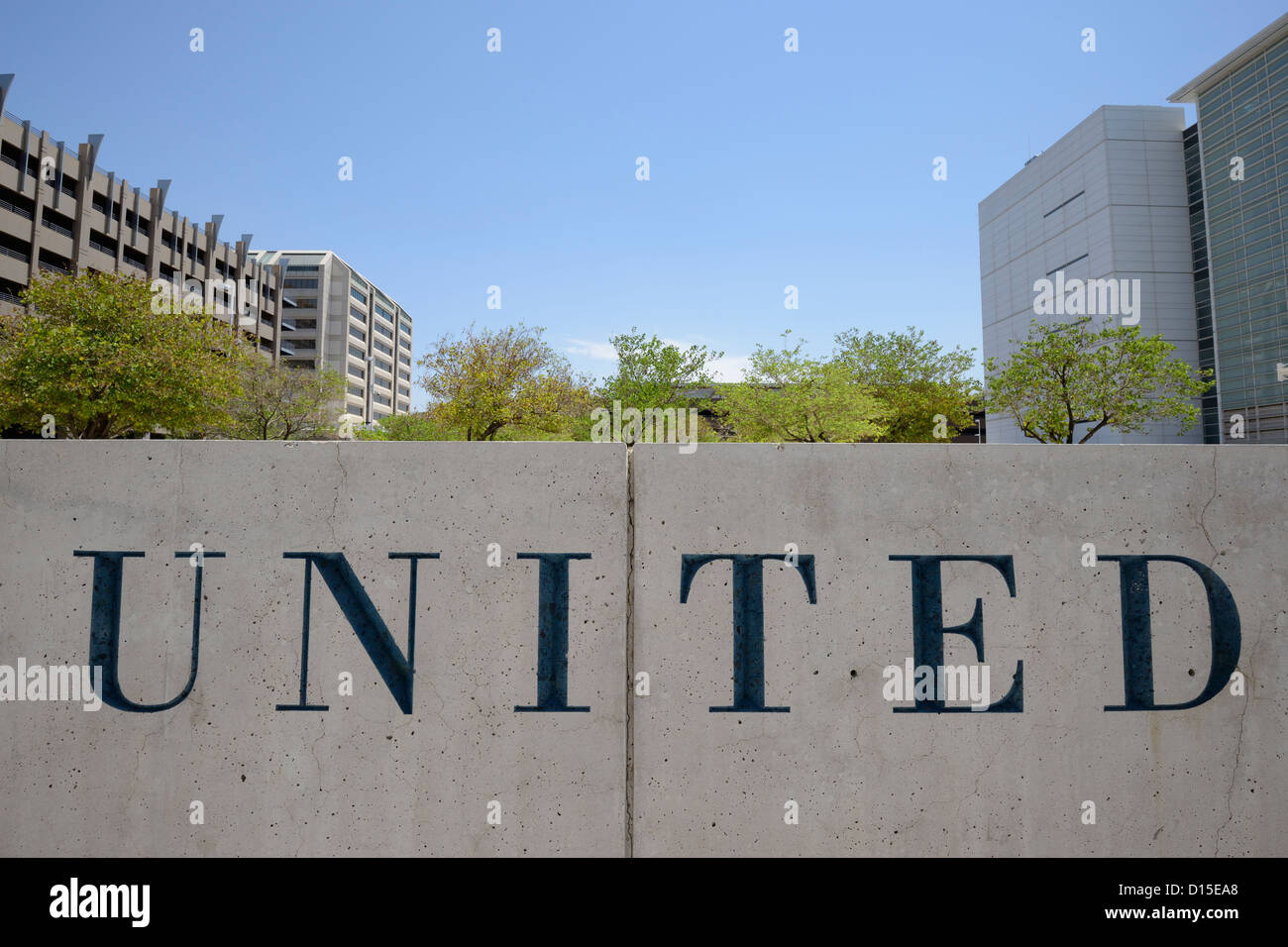 The United States of America is a very divided country politically The Sandra Day O'Connor federal courthouse - Stock Image