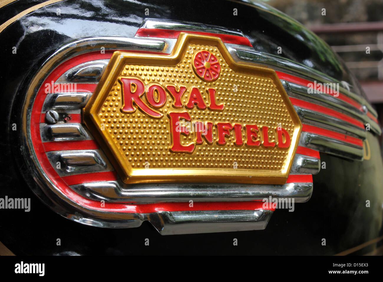 Royal Enfield Motorcycle - Stock Image