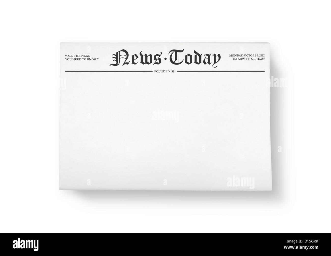 Newspaper Headline Template from c8.alamy.com