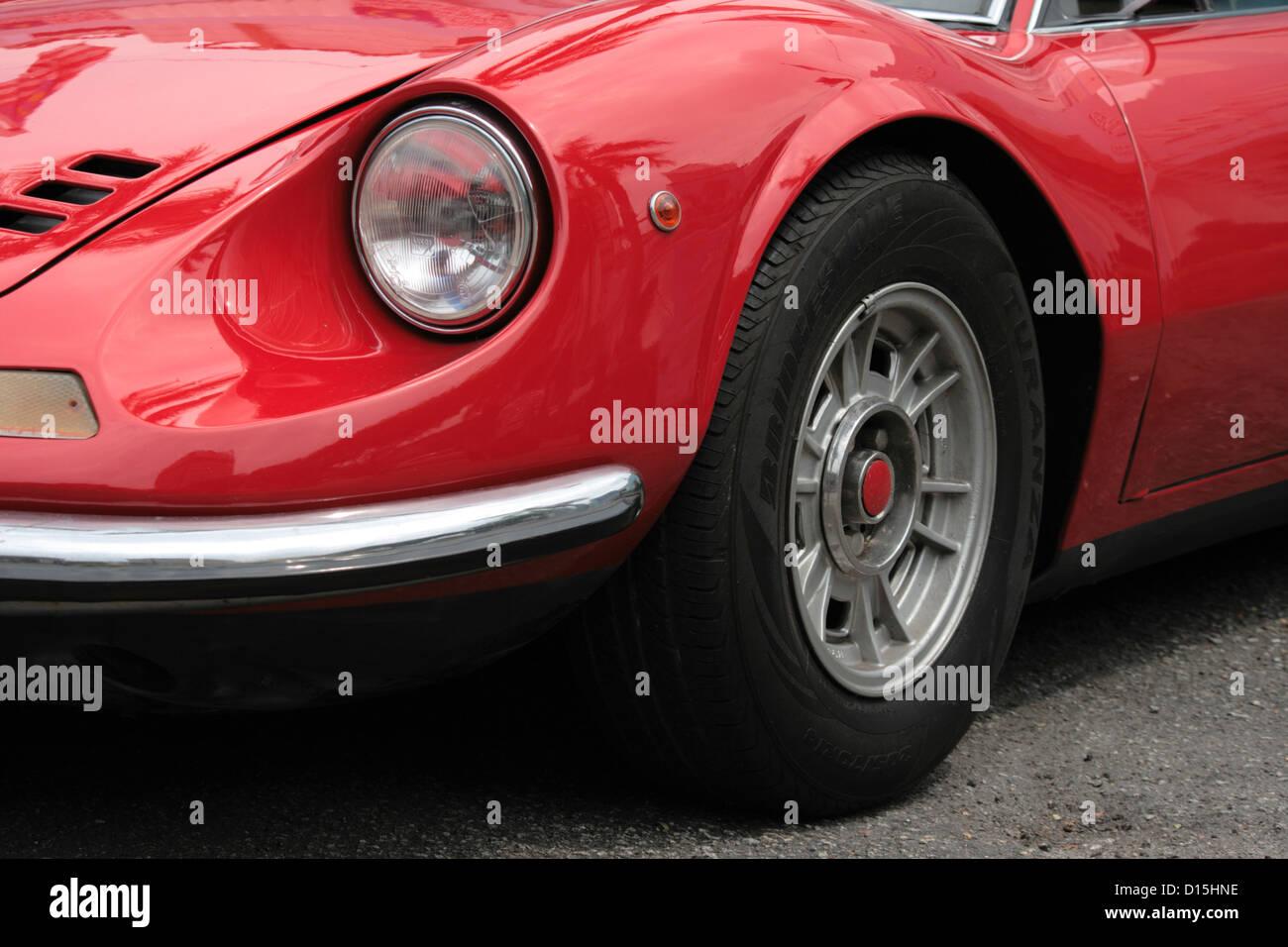 classic retro car headlamp - Stock Image