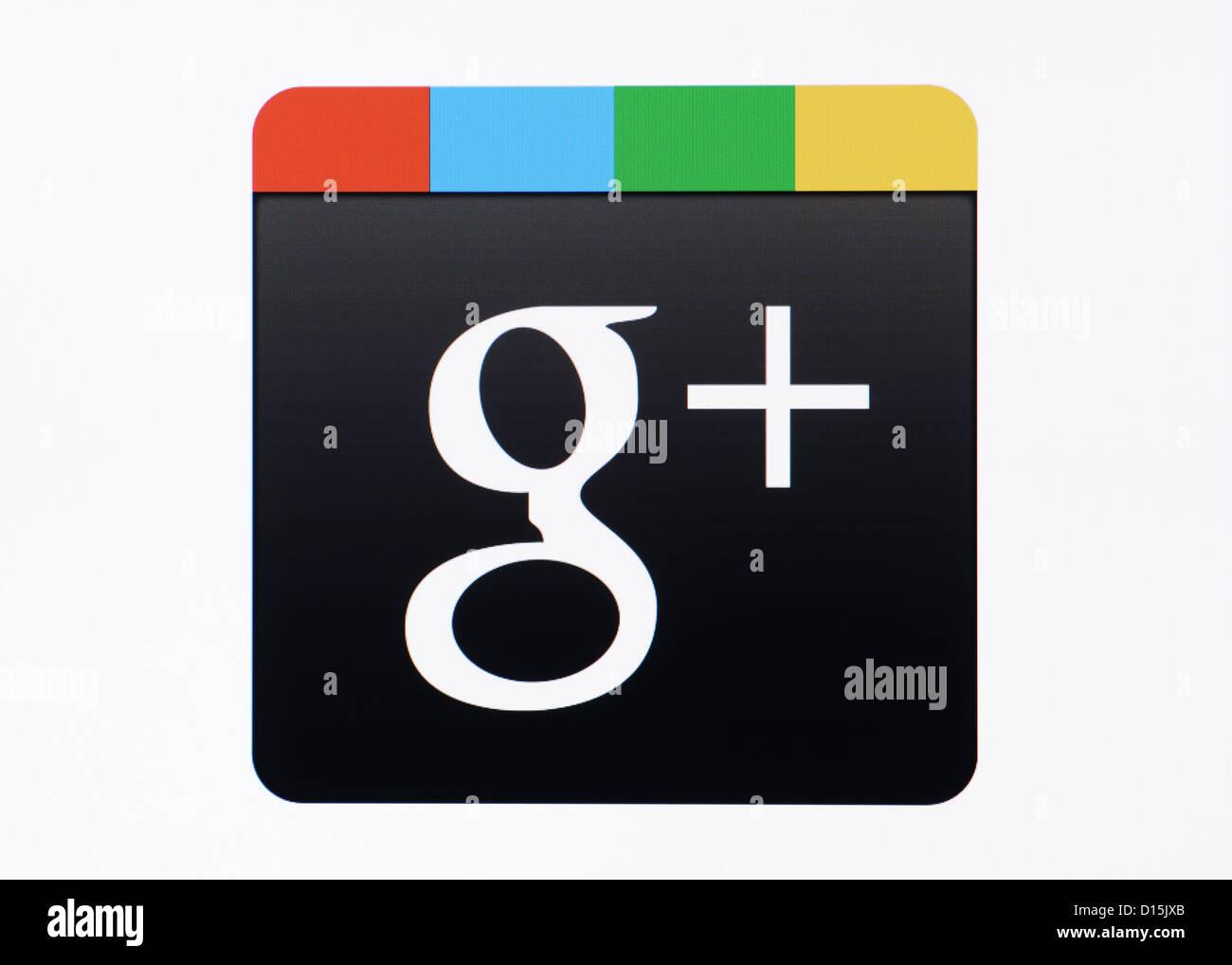 Google+ Logo Screenshot - Stock Image