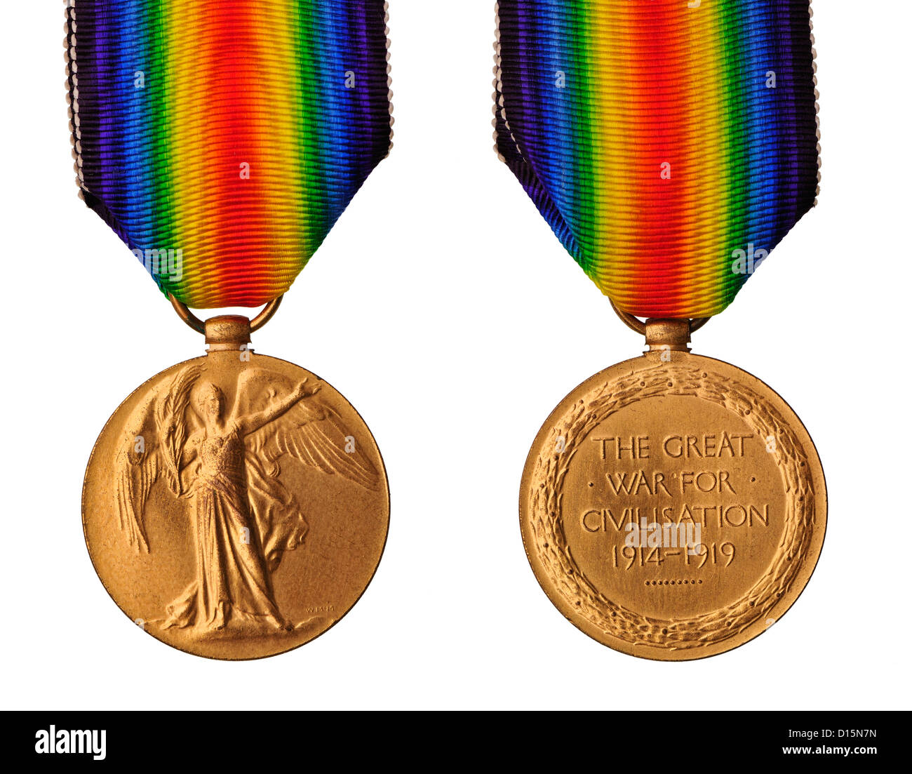 First World War British Victory medal - Stock Image