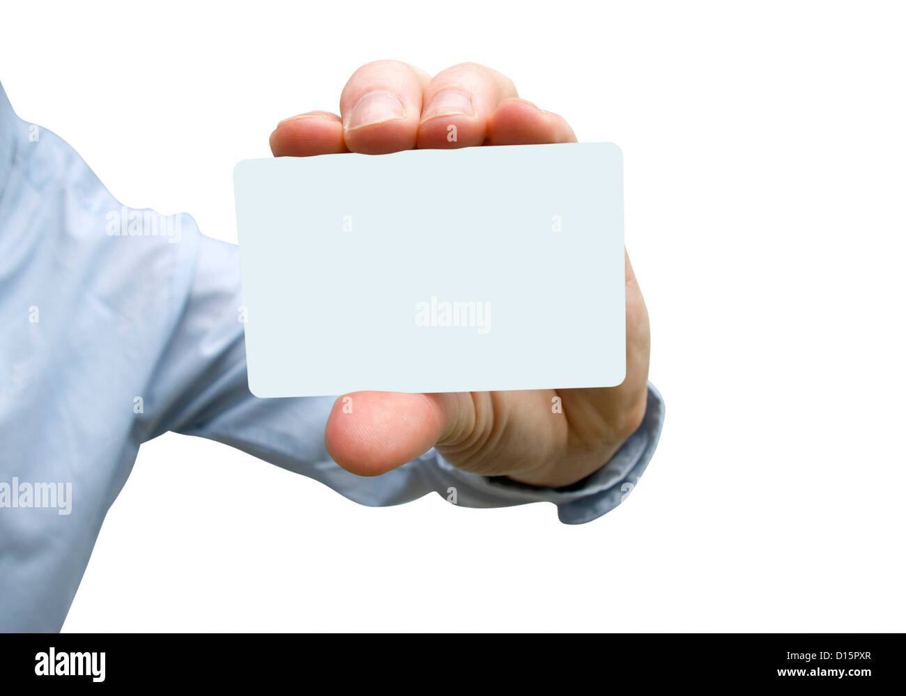 Man hand holding a blank business card Stock Photo: 52373519 - Alamy