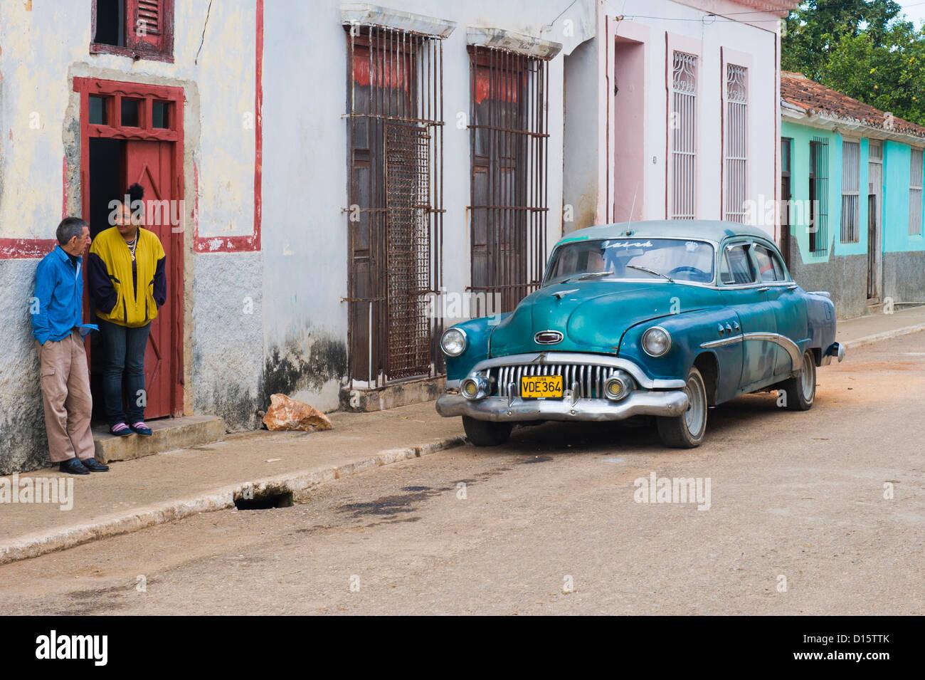 Oldtimer car, Santa Clara Province, Cuba - Stock Image