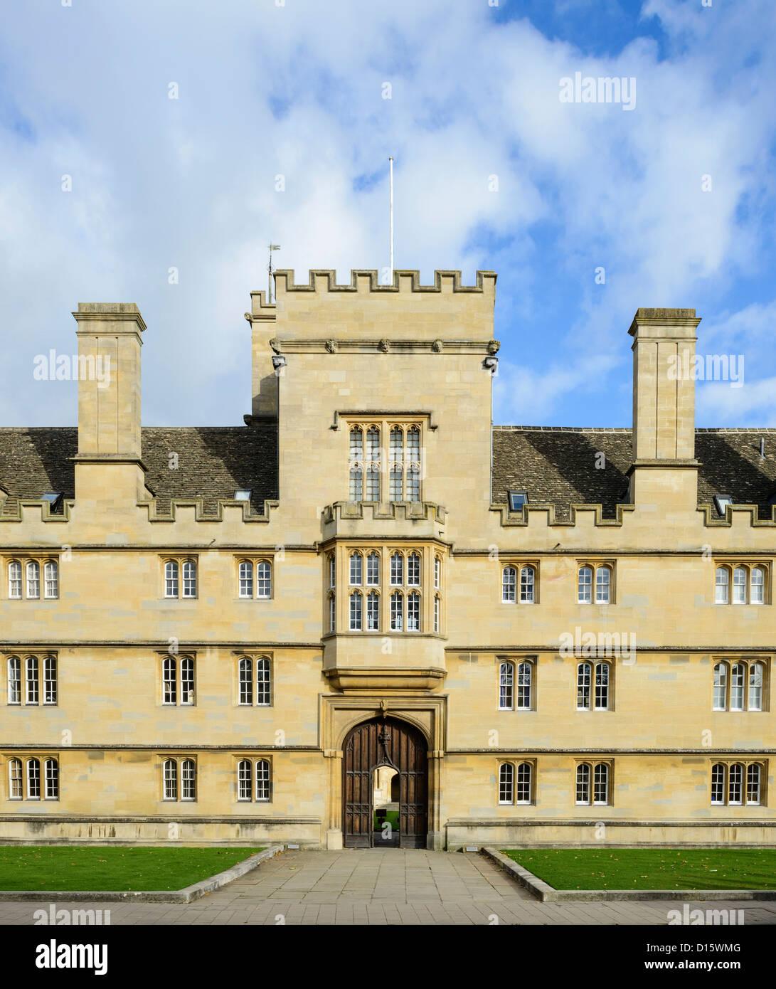 Front entrance of Wadham College Oxford University England UK - Stock Image