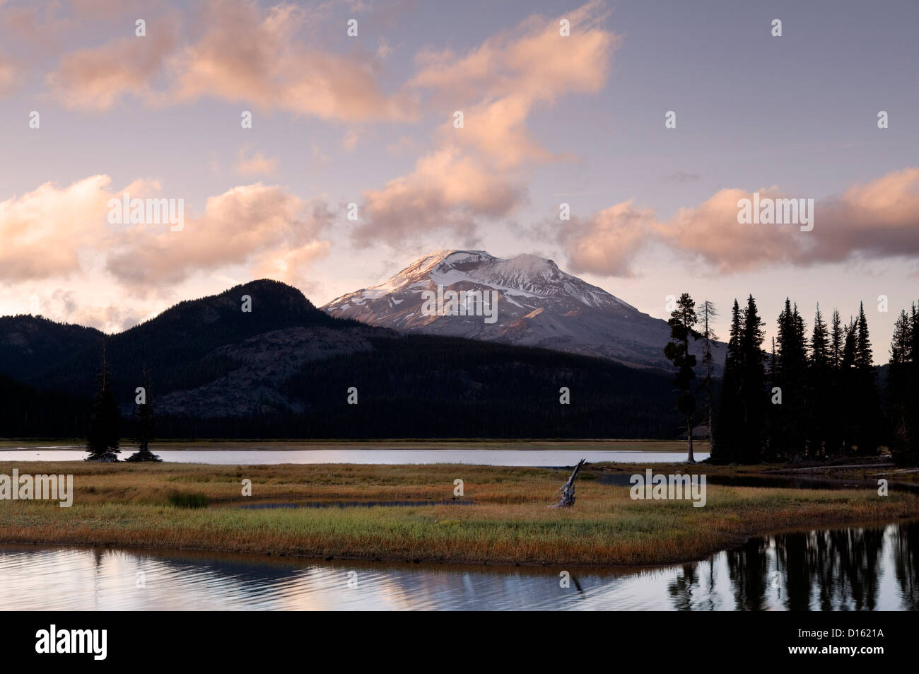OR00491-00....OREGON - South Sister as viewed from Sparks Lake in the Deschutes National Forest. - Stock Image