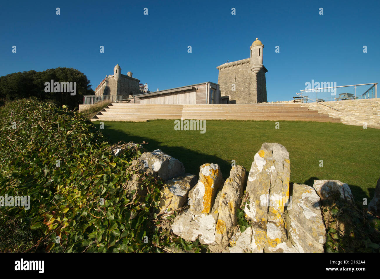 Durlston castle, Swanage, Dorset, UK, photographed on the day of their official BBC1 TV award ceremony on Saturday - Stock Image