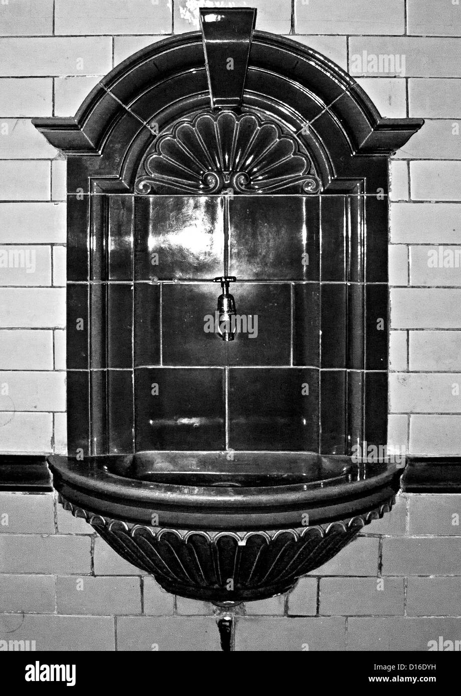 Old drinking trough, Victoria baths - Stock Image