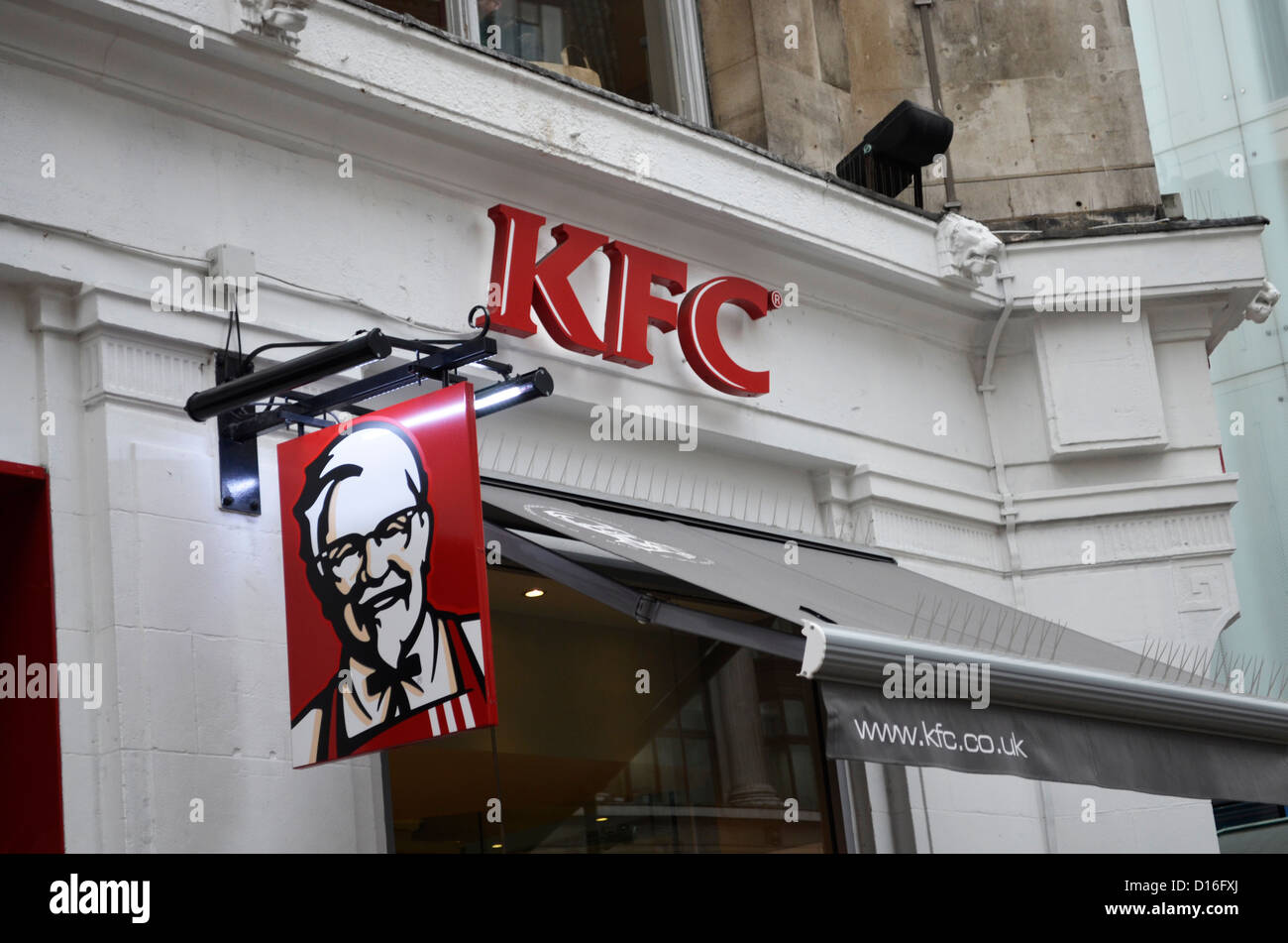 KFC front sign - Stock Image