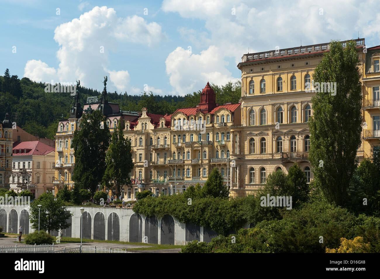 Elk188-2508 Czech Republic, Marianske Lazne, spa hotels - Stock Image