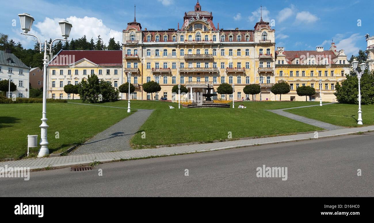 Elk188-2693 Czech Republic, Marianske Lazne, spa hotel, Hotel Nove Lazne - Stock Image