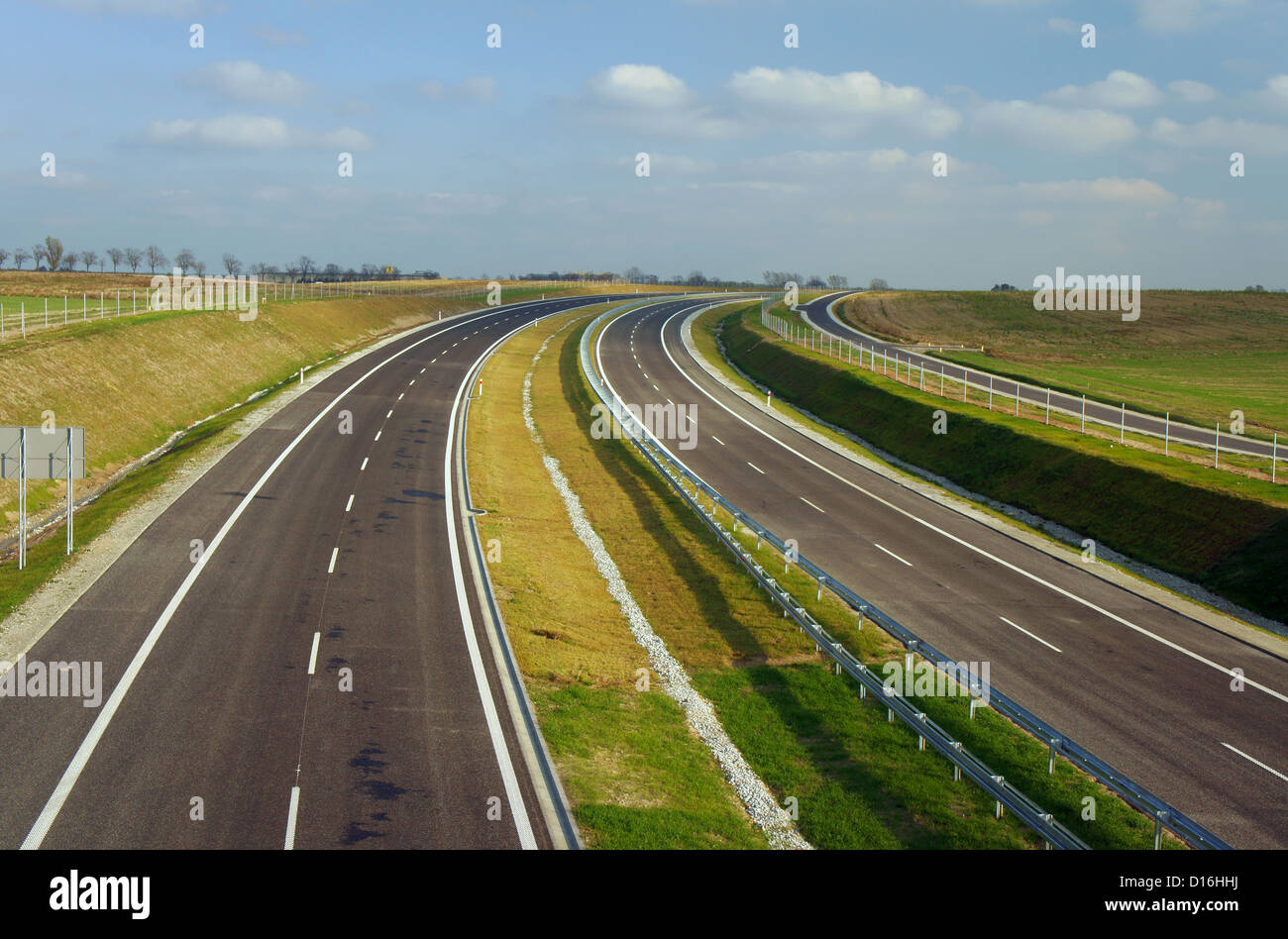 orbital road under construction in Poznan, Poland - Stock Image
