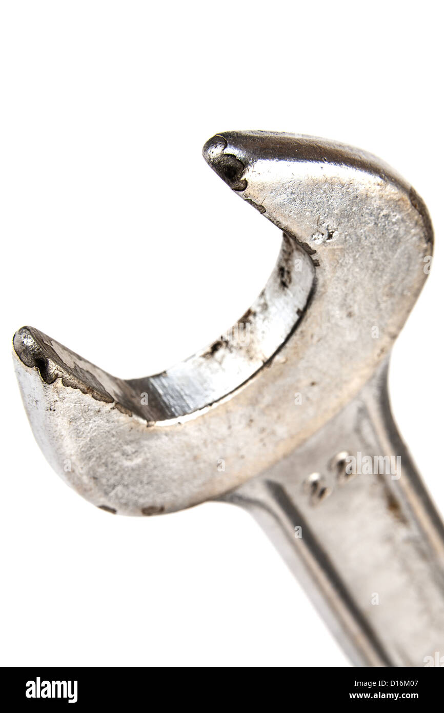Hand wrench tool or spanner - Stock Image
