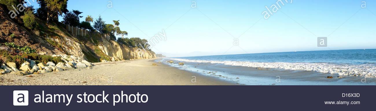 Montecito beach stock photos montecito beach stock images alamy montecito beach panorama santa barbara county california usa stock image publicscrutiny Choice Image