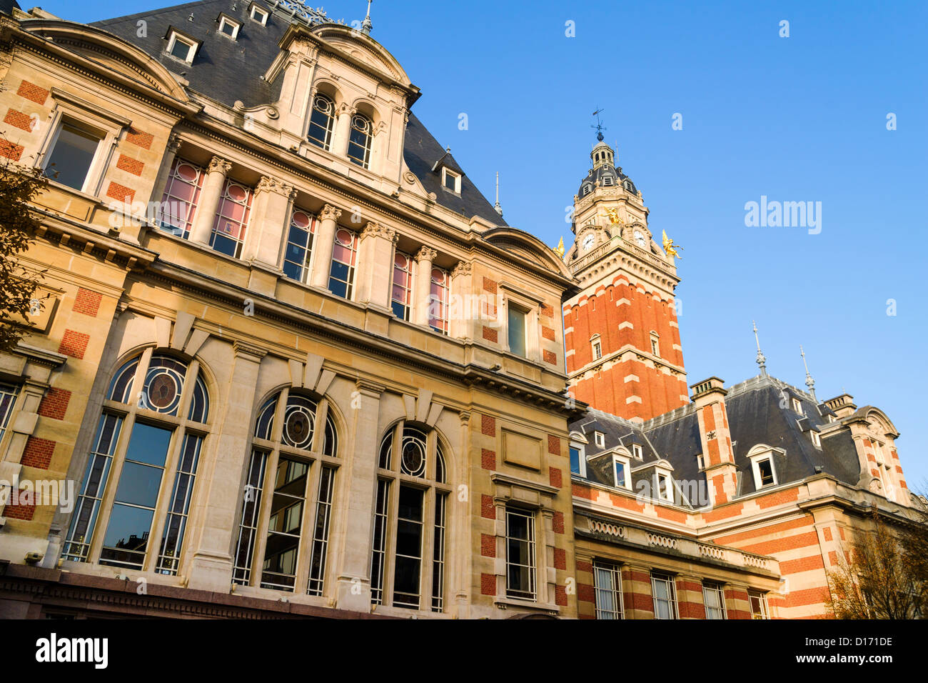 Saint-Gilles town hall in Brussels, Belgium. The 20th century French Renaissance style. - Stock Image