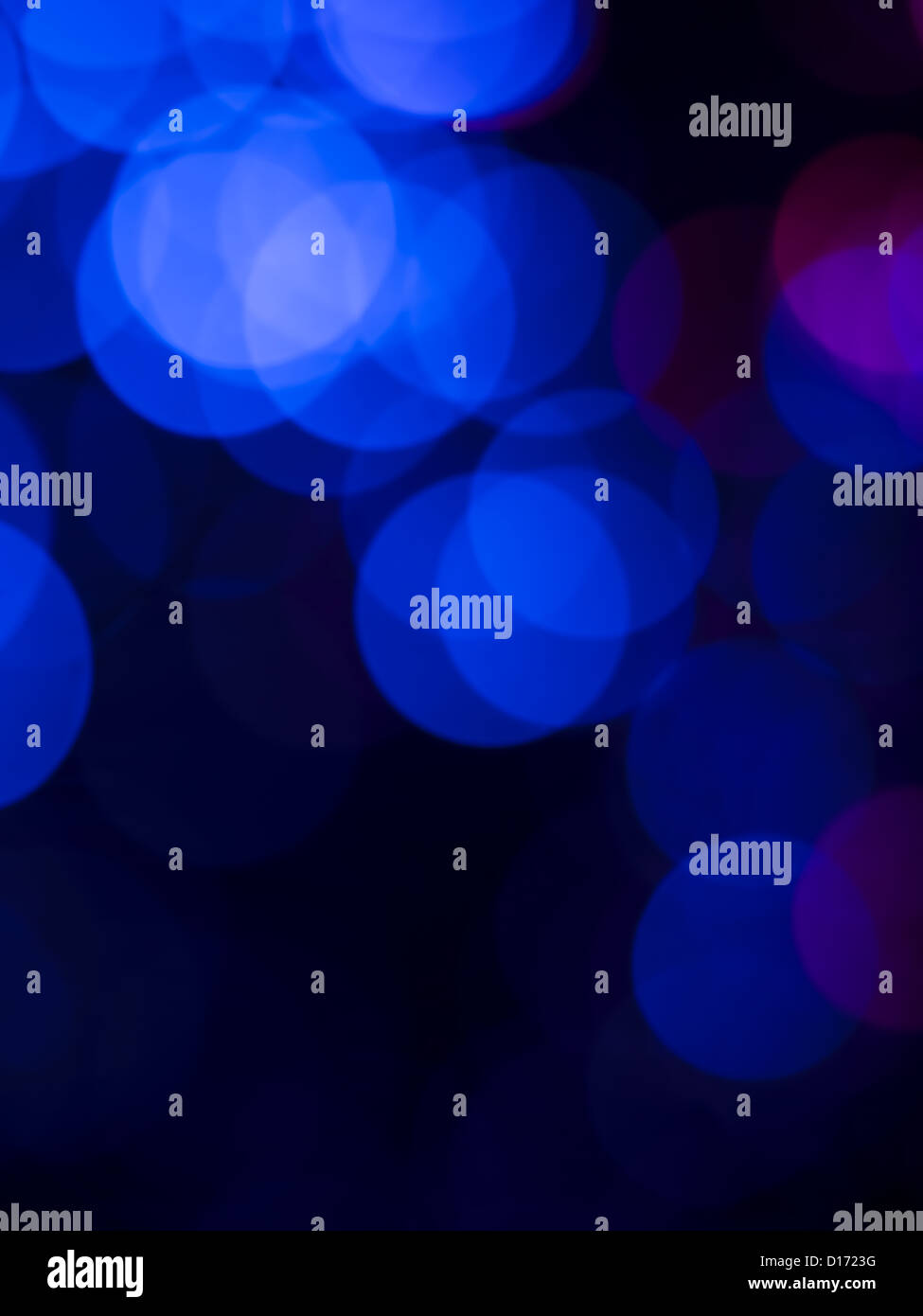 Conceptual Wallpaper With Defocused Round Shaped Blue Lights Fading