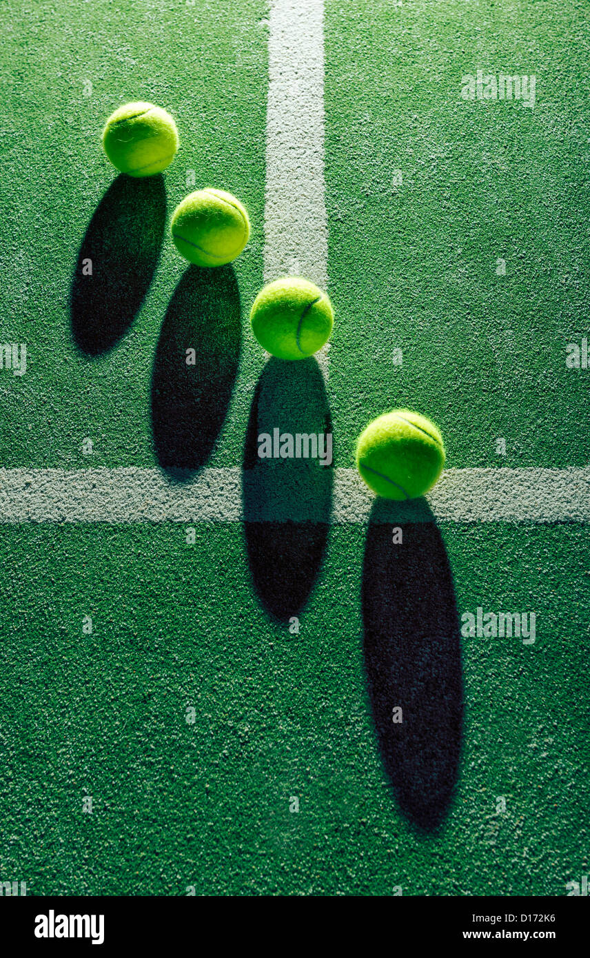 Abstract view of tennis ball´s. - Stock Image