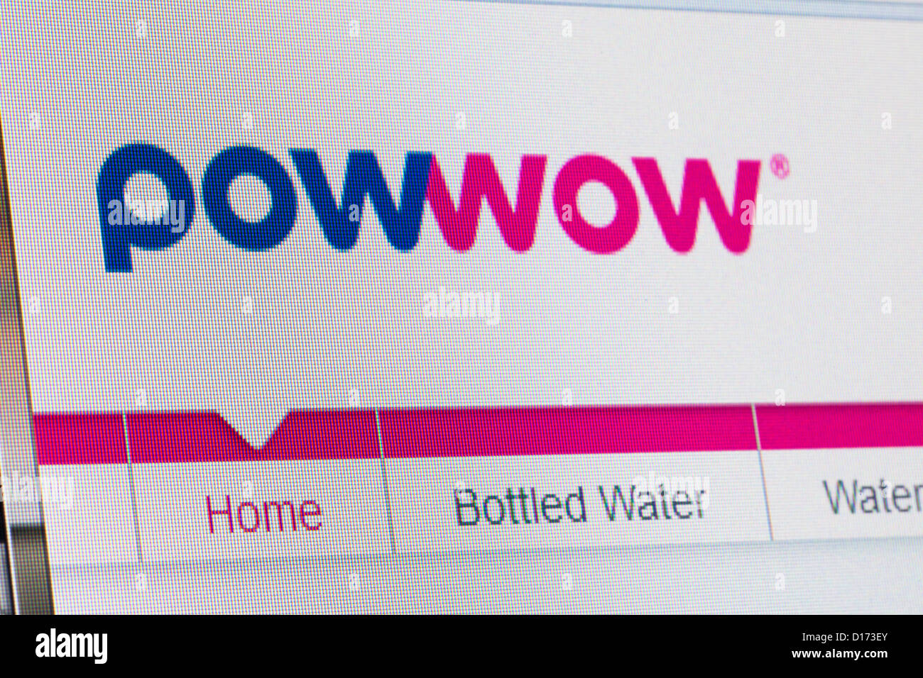 Screenshot of the powwow homepage - Stock Image