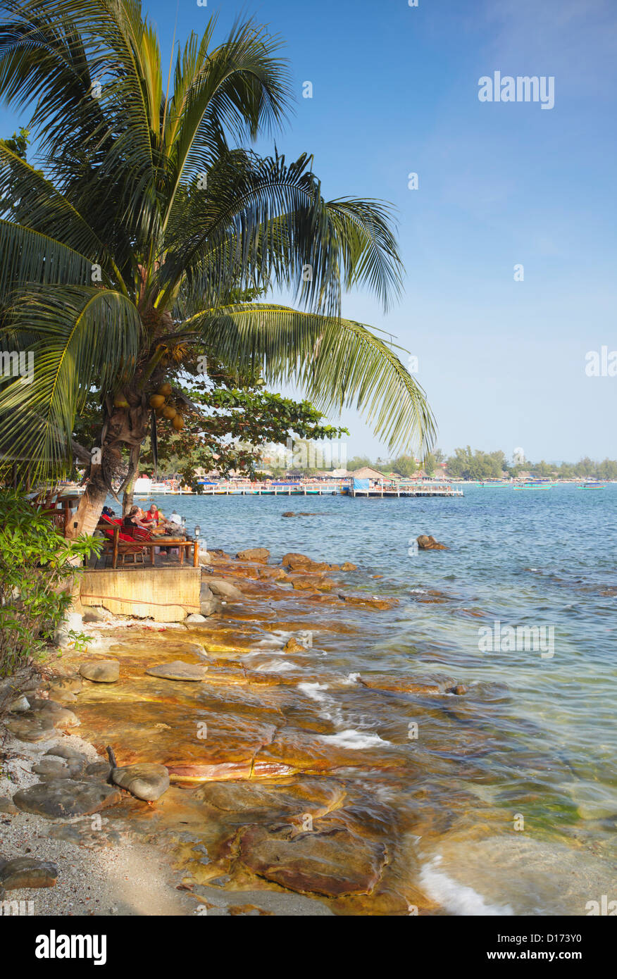 Ochheuteal Beach, Sihanoukville, Cambodia - Stock Image