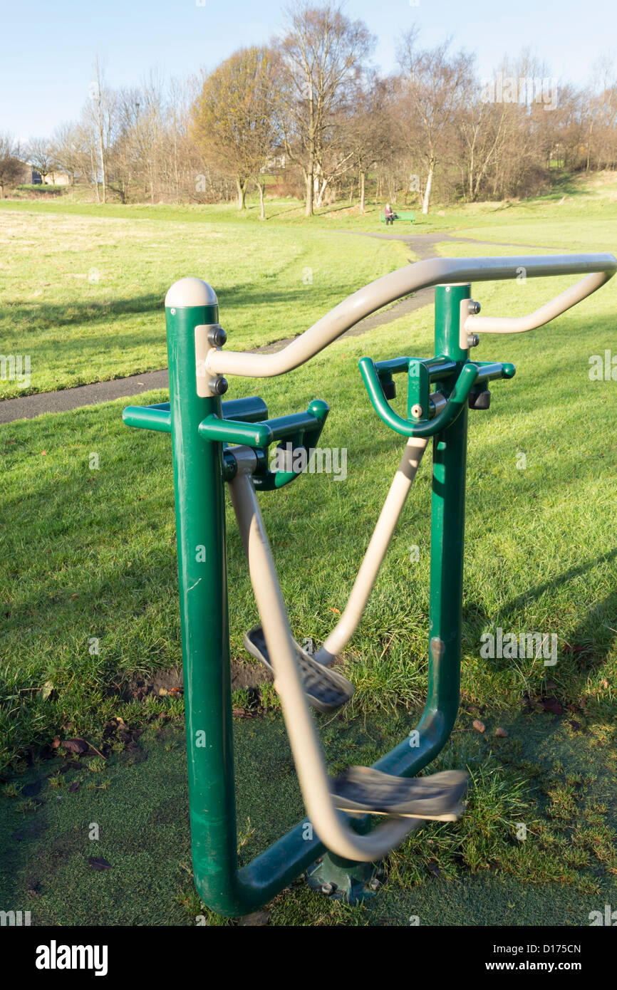 Outdoor Air Walker Machine One Of Several Free To Use Public Exercise Equipment Installations On Brun Valley Burnley