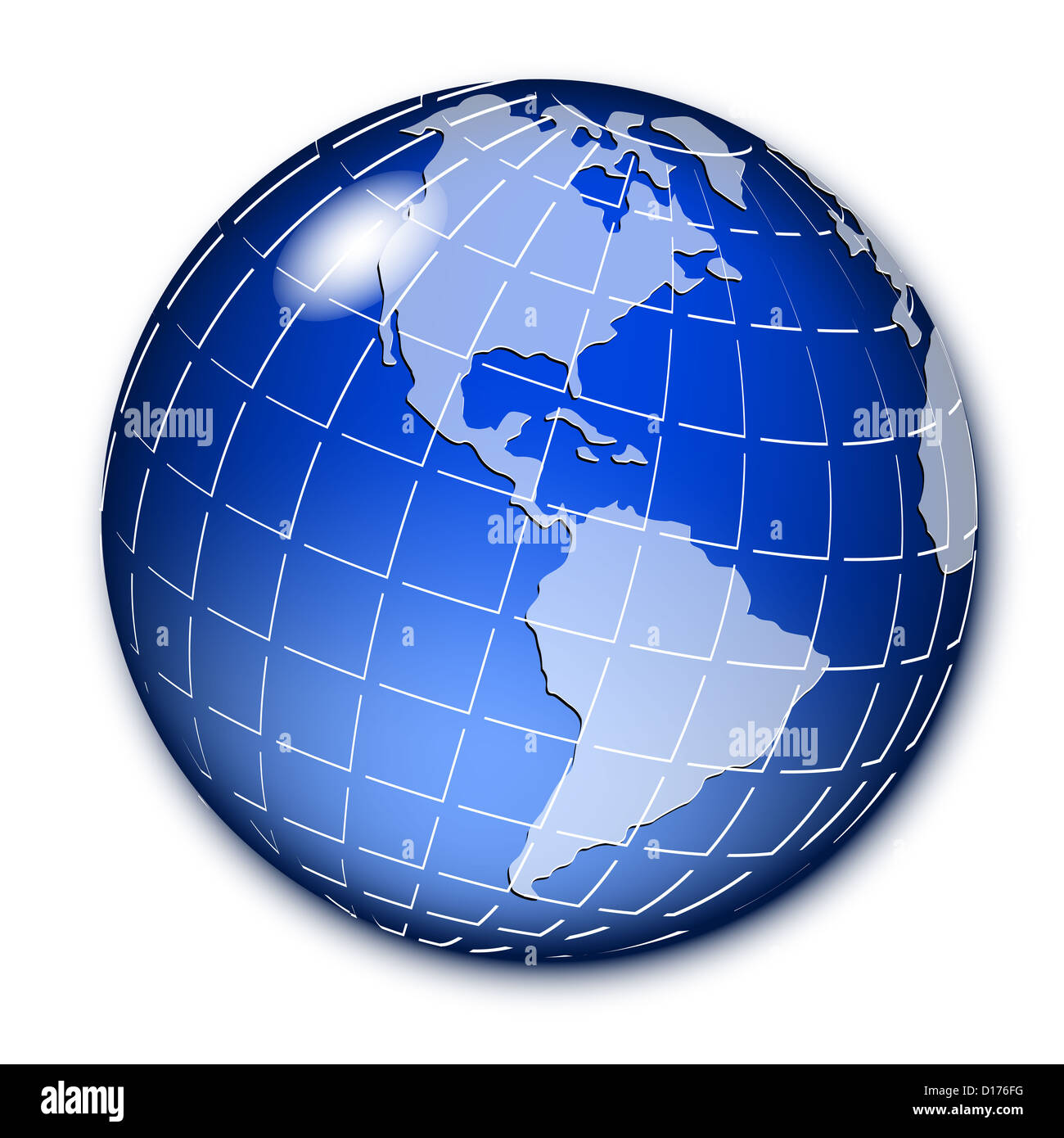 globe white background