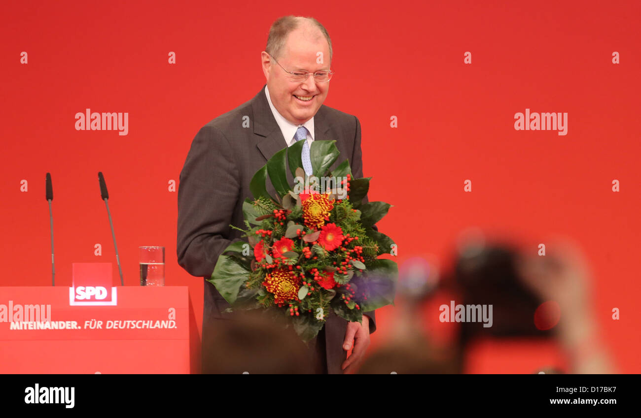 Peer Steinbrueck, SPDchancellor candidate, attends the special federal party conference of the German party - Stock Image