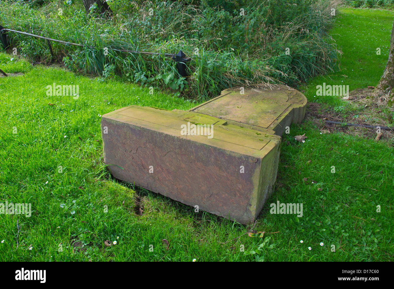 graveyard vandalism - Stock Image
