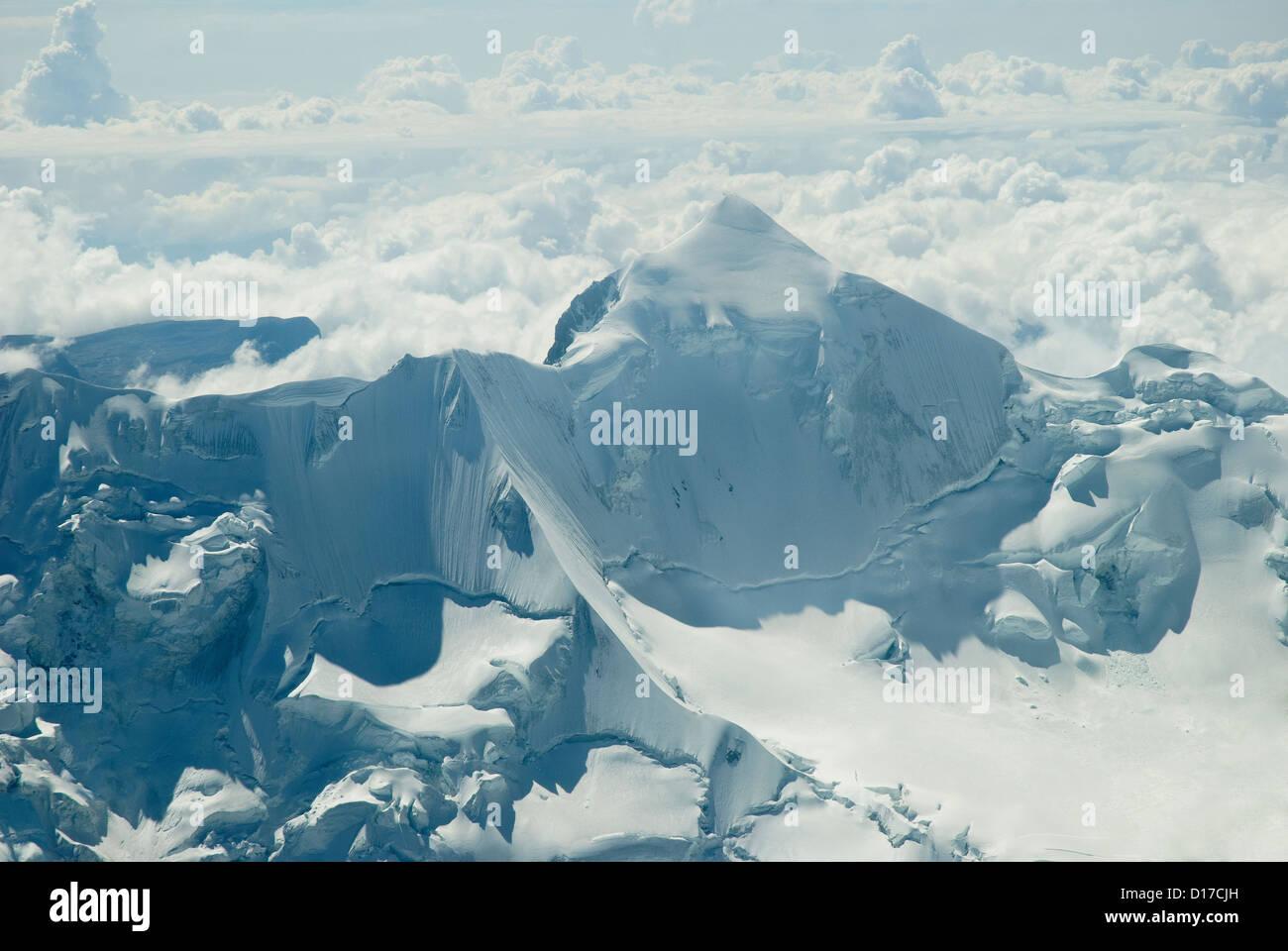 Aerial view of the Mountain Huayna Potosi Stock Photo