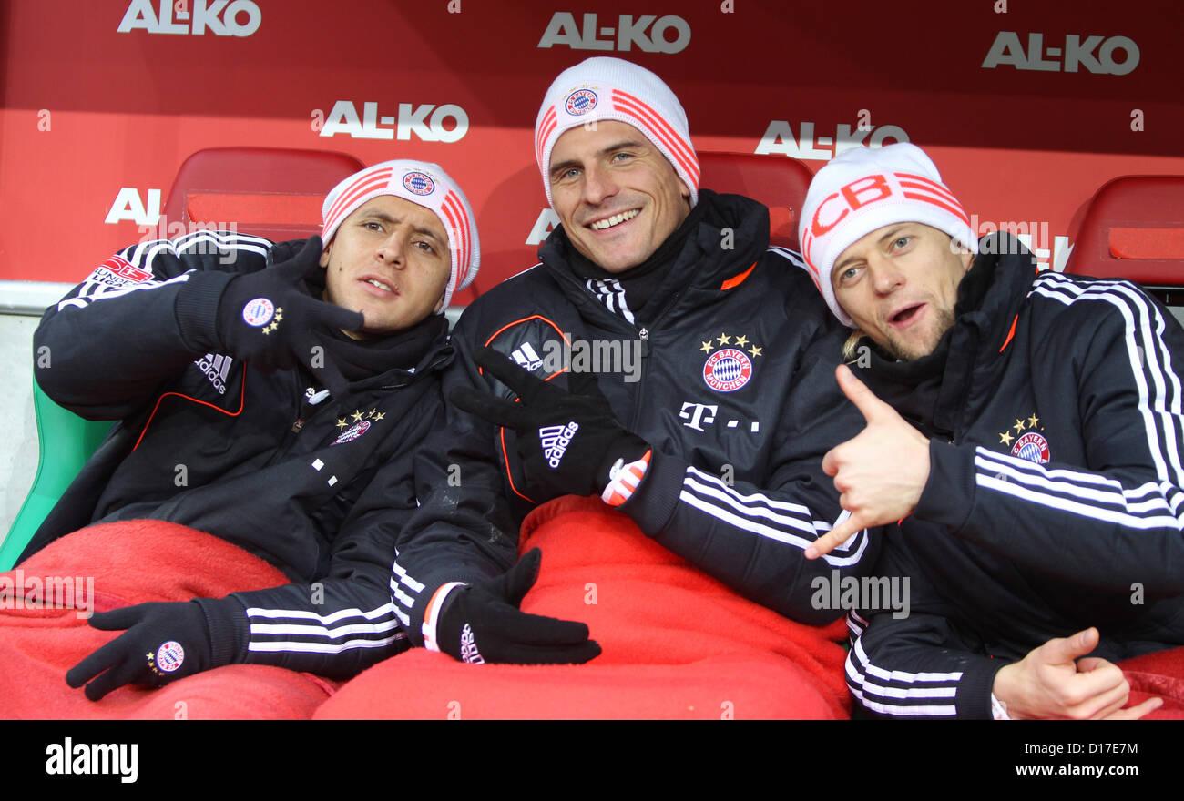 Fußball Bundesliga 16. Spieltag: FC Augsburg - FC Bayern München am 08.12.2012 in der SGL-Arena in Augsburg - Stock Image