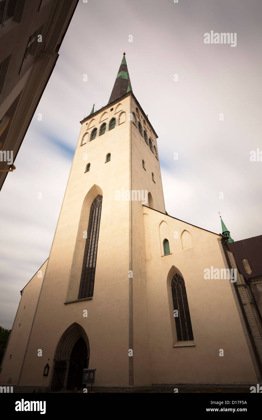 Low angle view of church steeple - Stock Image