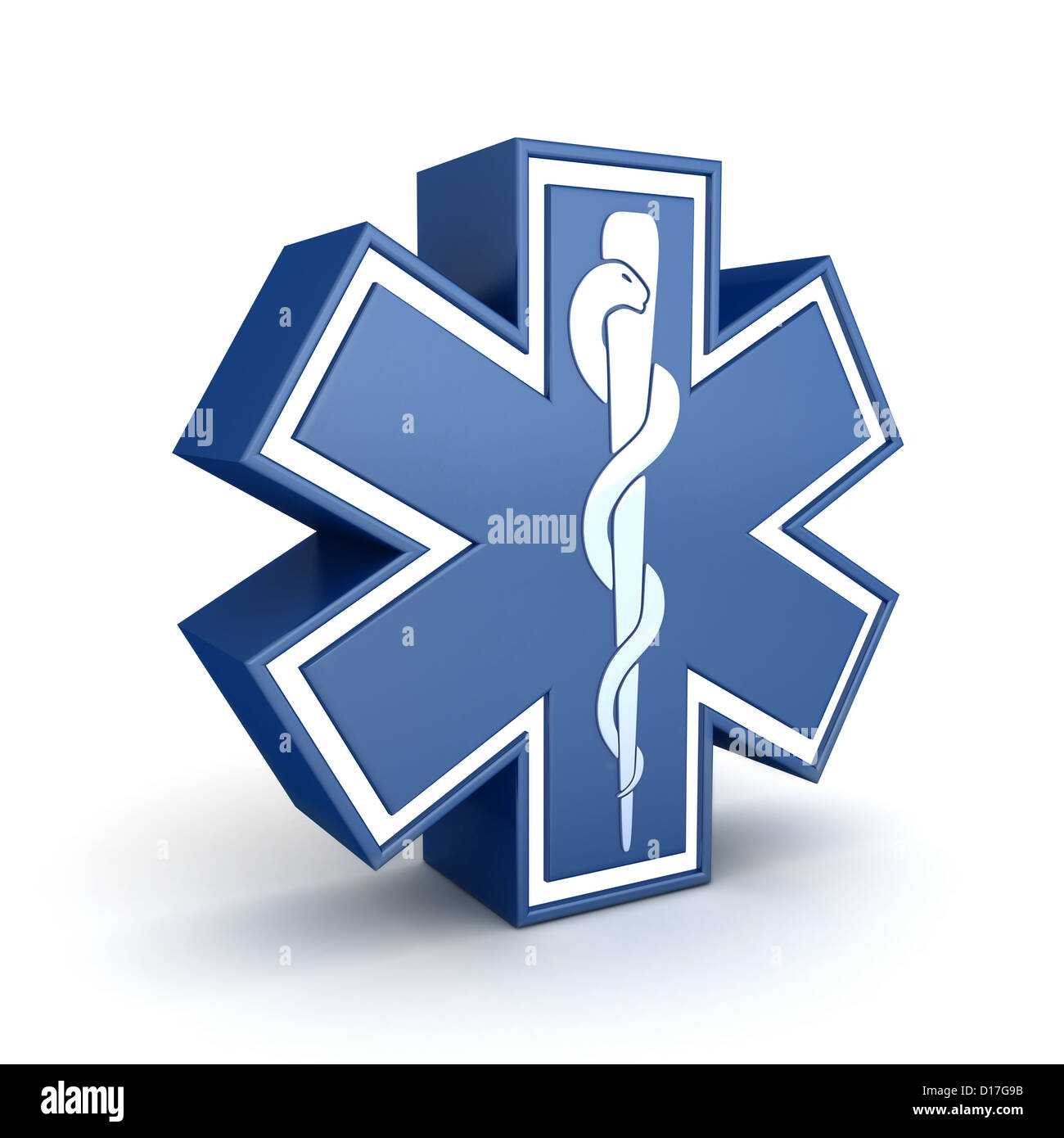 Symbol Star Of Life Done In 3d Stock Photo 52412231 Alamy