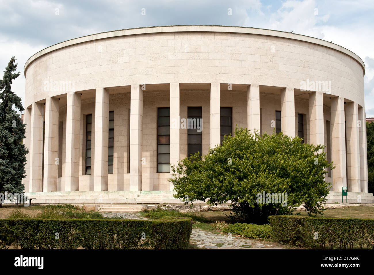 The Mestrovic Art Pavillion (home to the Croatian Society of Visual Arts) in Zagreb, the capital of Croatia. - Stock Image
