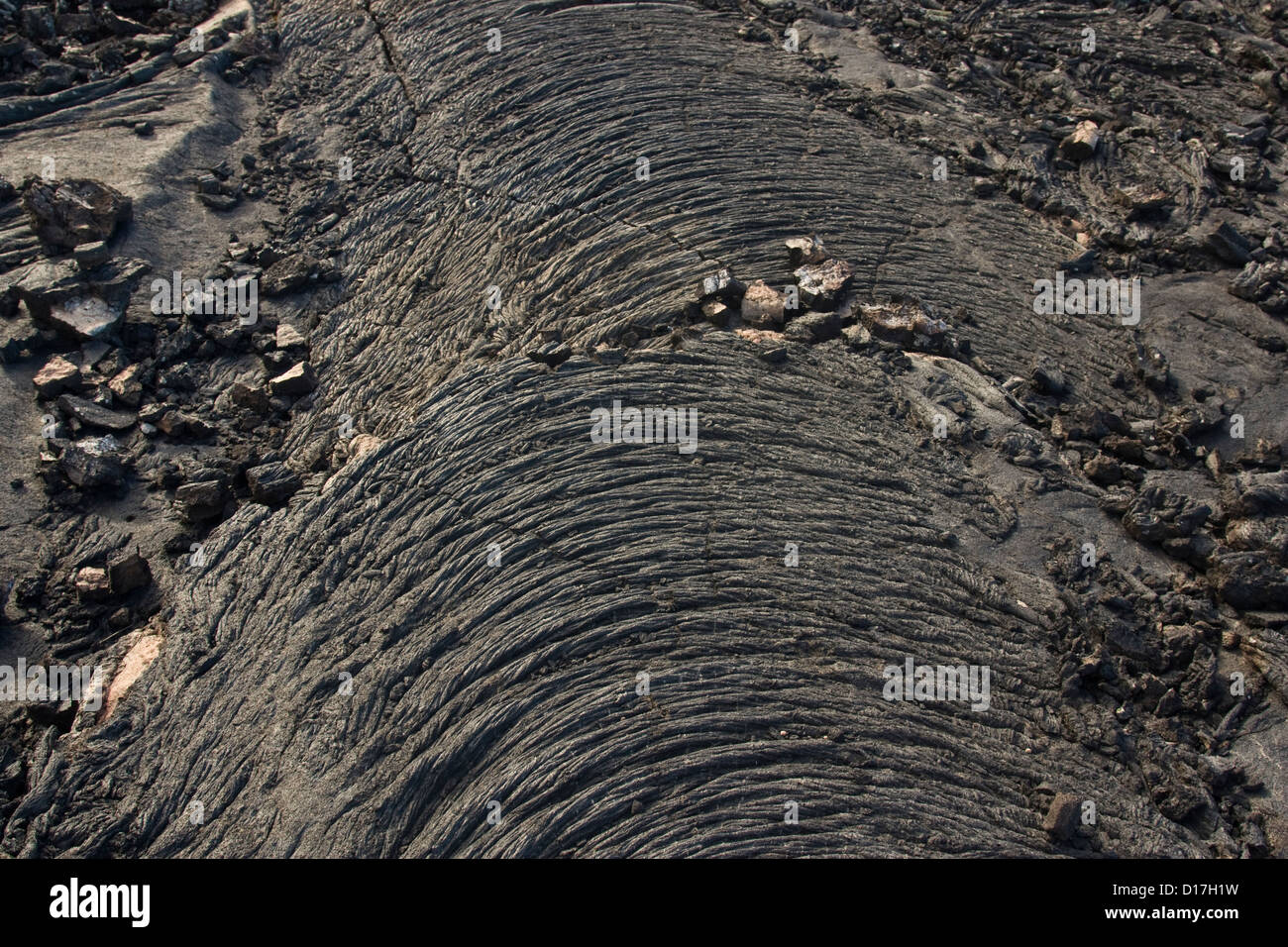 Pahoehoe lava on La Palma - Stock Image