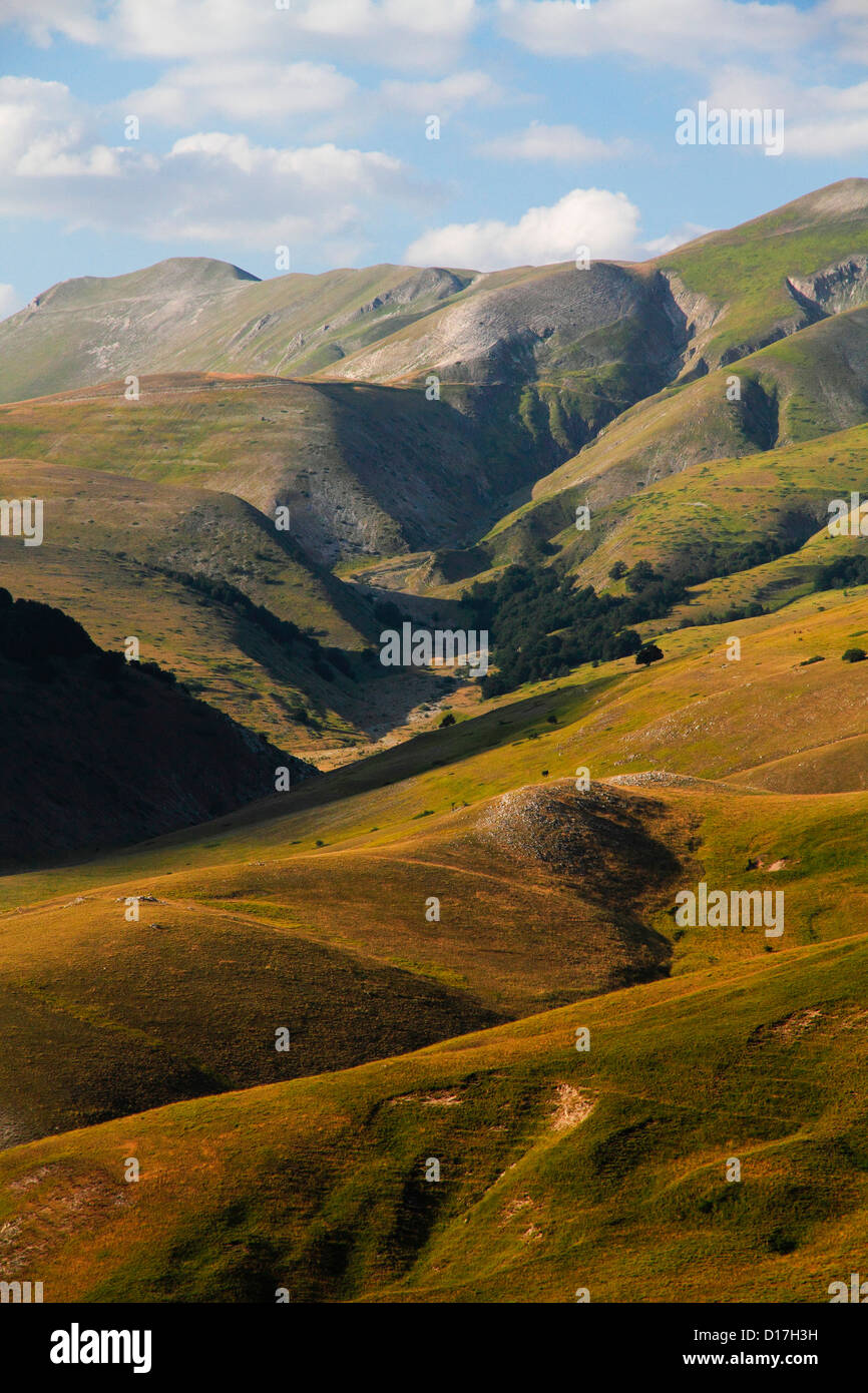 Europe Italy Sibillini Mount National park  valley - Stock Image