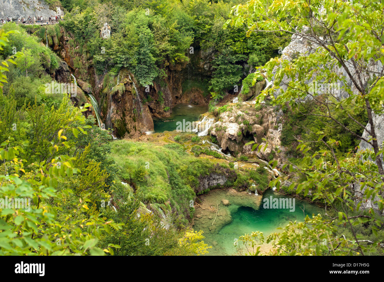 Plitvice Lakes National Park in Croatia. - Stock Image