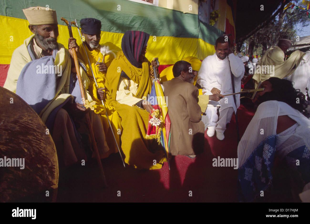 Gondar, the celebration of Timkat (Epiphany) Ethiopia,Africa Stock Photo