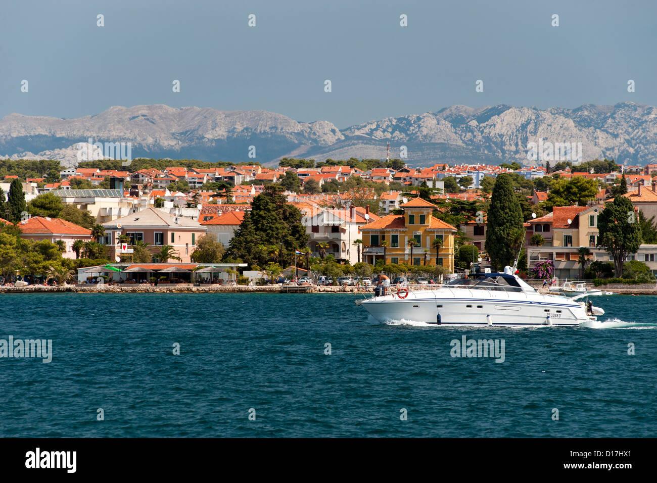 View of the coastline near Zadar on the Adriatic coast of Croatia. - Stock Image