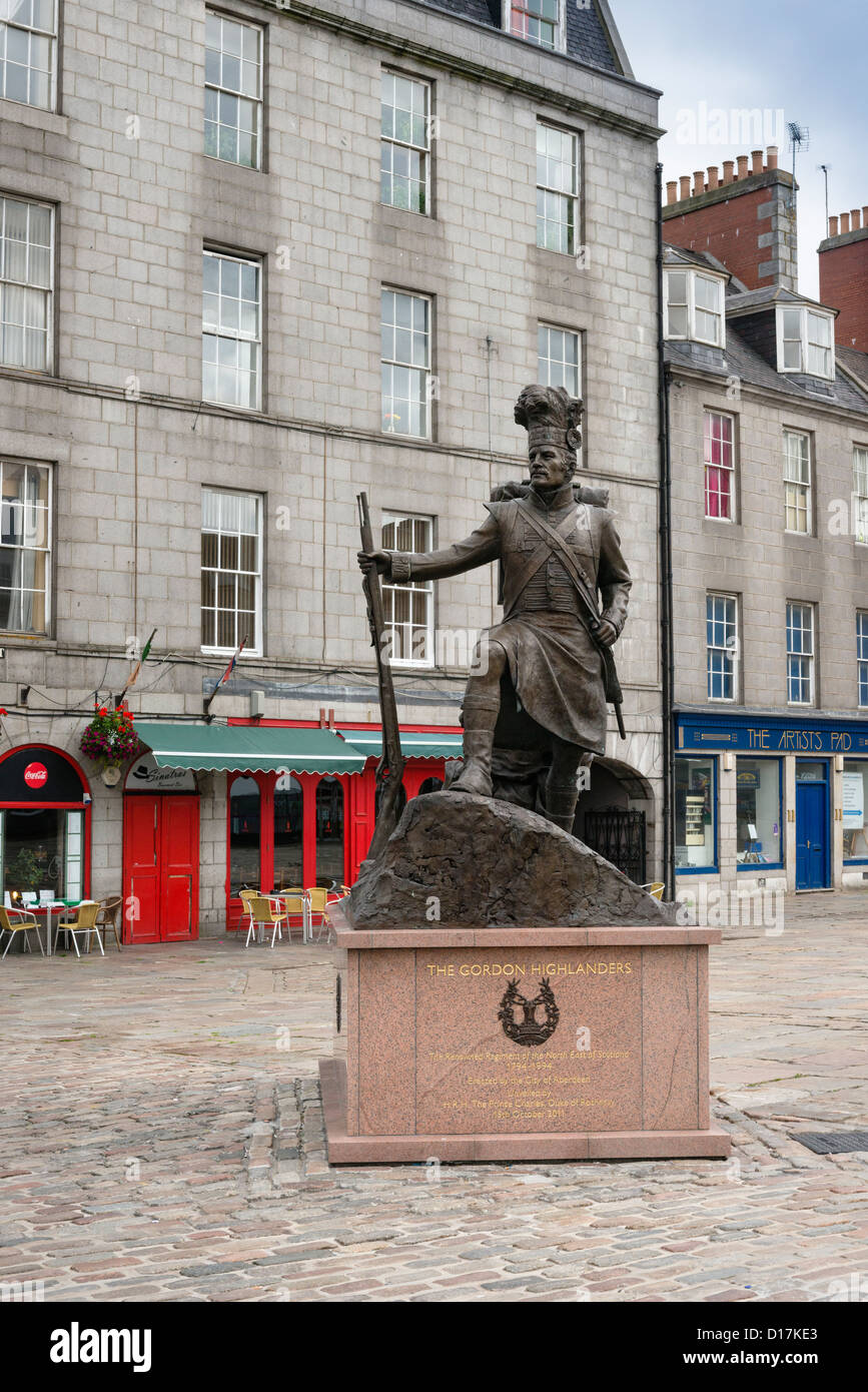 Aberdeen, The Gordon Highlanders memorial Stock Photo