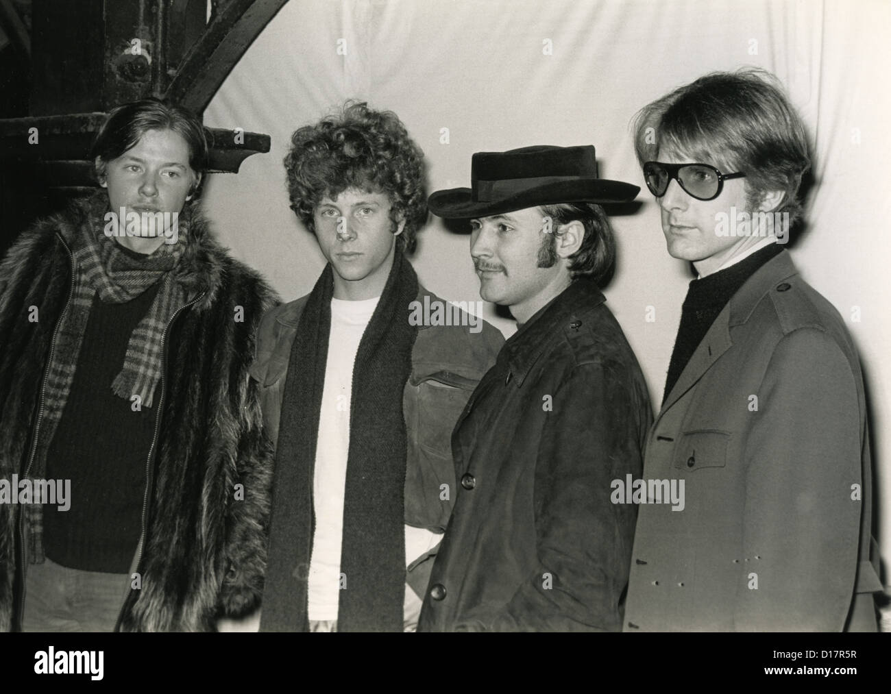 cc582247b53 THE BYRDS US pop group in London in February 1967. From l Mike Stock ...