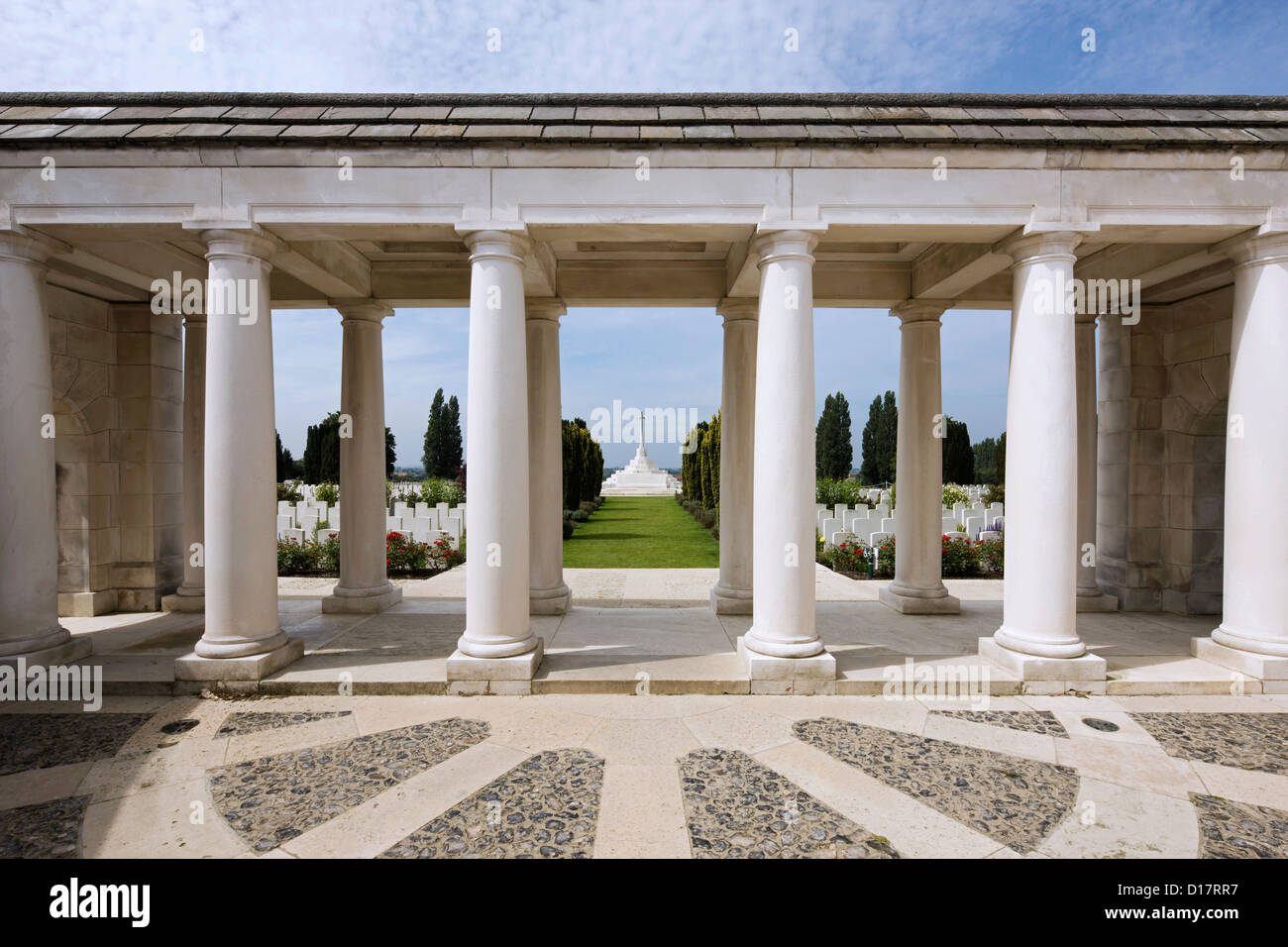 Commonwealth War Graves Commission Tyne Cot Cemetery for First World War One British soldiers at Passendale, Flanders, - Stock Image