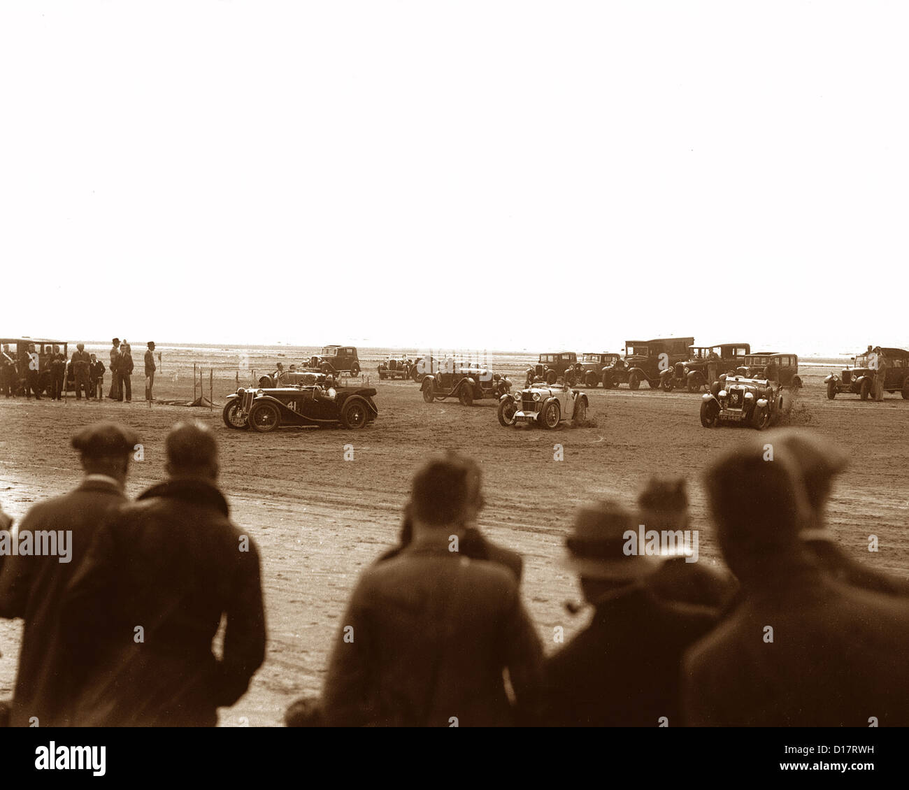Motor racing on Southport Sands in 1934 - Stock Image