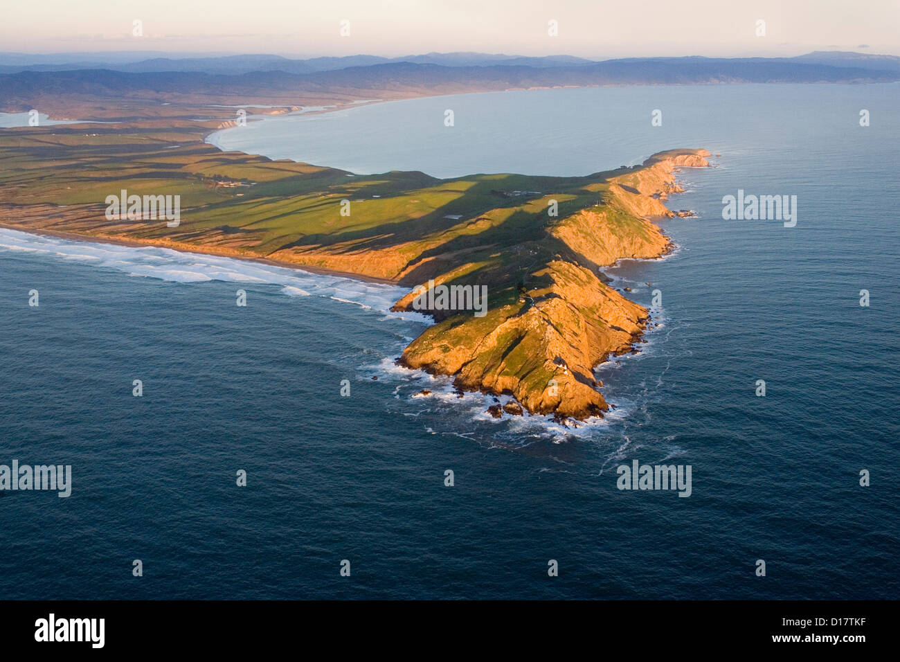 Aerial view of Point Reyes, Callifornia. - Stock Image