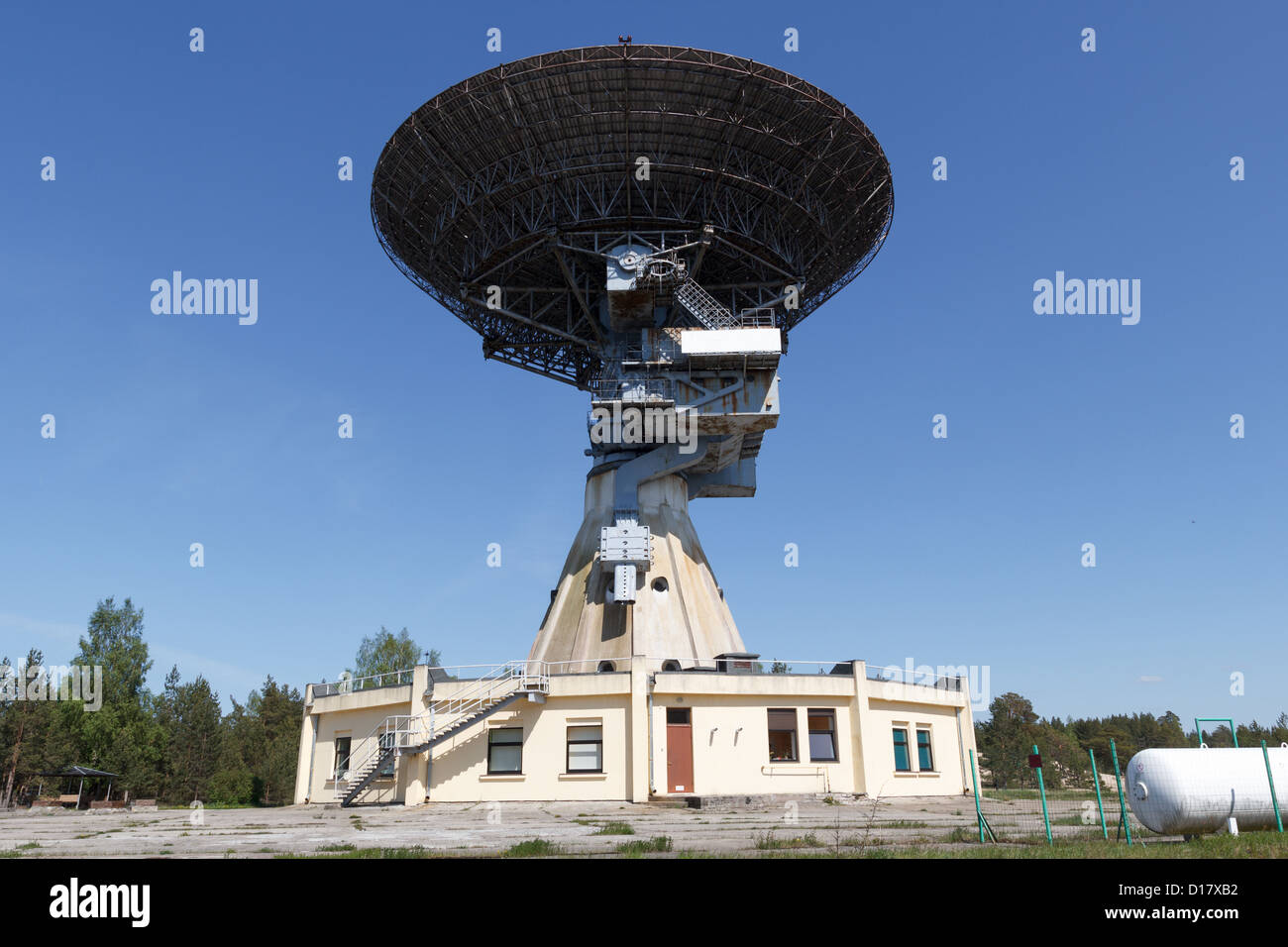 Former super-secret Soviet Army space spying object.Now largest radio telescope in northern Europe and the world's - Stock Image